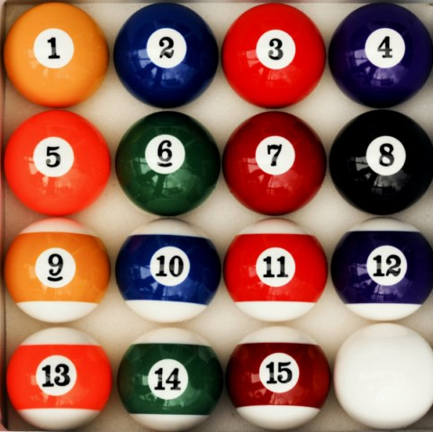 Art Number Style Pool Table Billiard Table Ball Set
